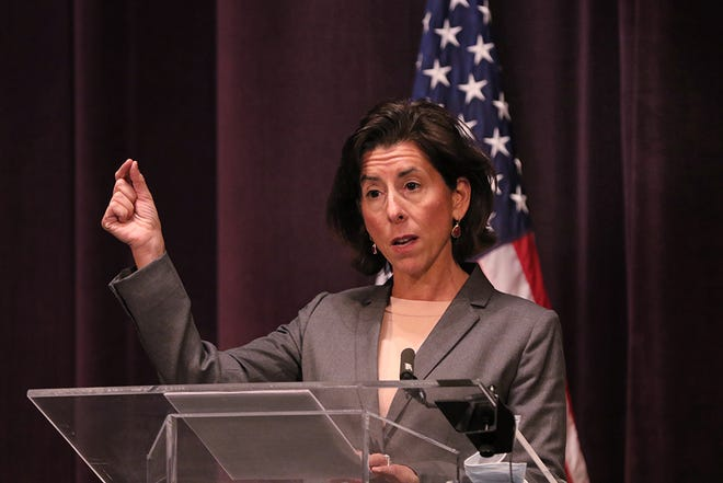 On Monday, 34 people were admitted to Rhode Island hospitals with COVID-19, the most on a single day since May 7. On Thursday, Gov. Gina Raimondo announced seven new restrictions designed to tamp down the recent surge in cases. She is shown here at her Oct. 30 coronavirus briefing.