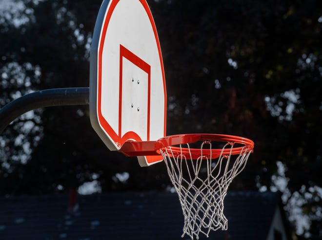 New hoops, nets and and backboards have been installed at basketball court in Victory Park. Hoops were removed in all city basketball courts in April to keep people from gathering in the parks to help stem the spread of the COVID-19 coronavirus pandemic.