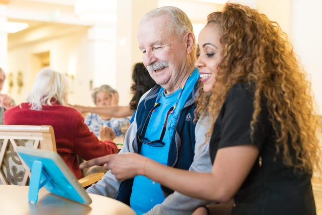 Tablets provided by VITAL have helped older people connect during the pandemic.