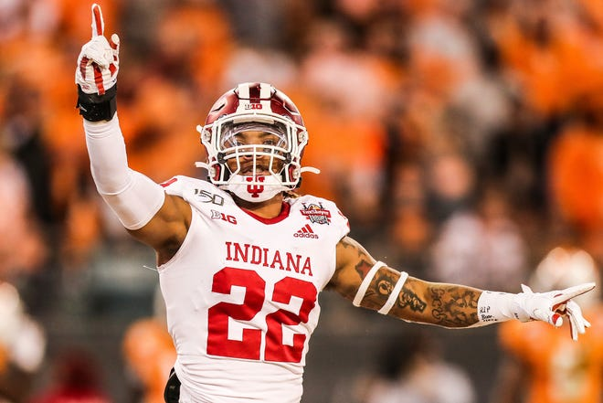 Former Riverview High Ram Jamar Johnson leads Indiana in tackles after two games. [Indiana University athletics photo]
