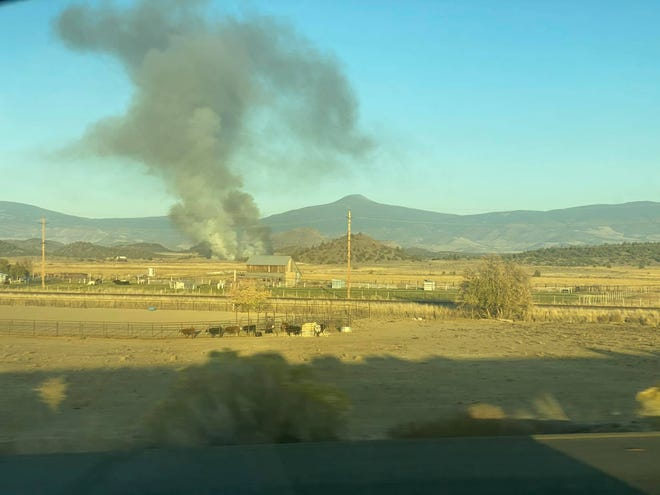 One of five fires in the Montague area on Thursday, Nov. 5, 2020.