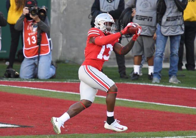 Rashod Berry made a touchdown catch for Ohio State in the 2019 Rose Bowl.