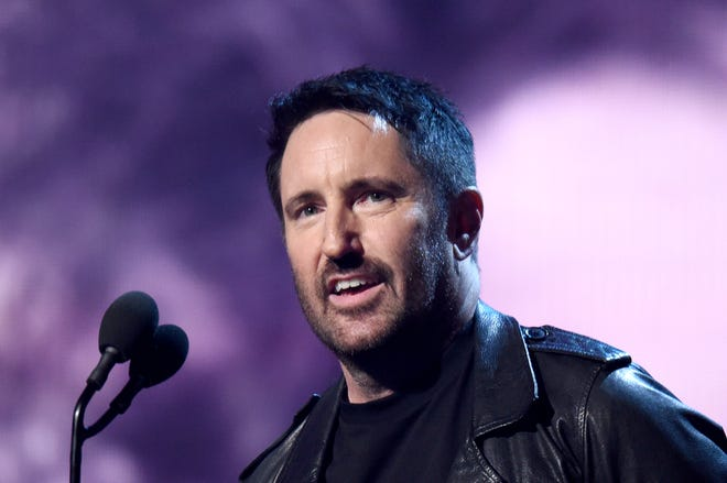 Trent Reznor introduces inductees The Cure onstage at the  Rock & Roll Hall Of Fame Induction Ceremony March 29, 2019 in New York City.