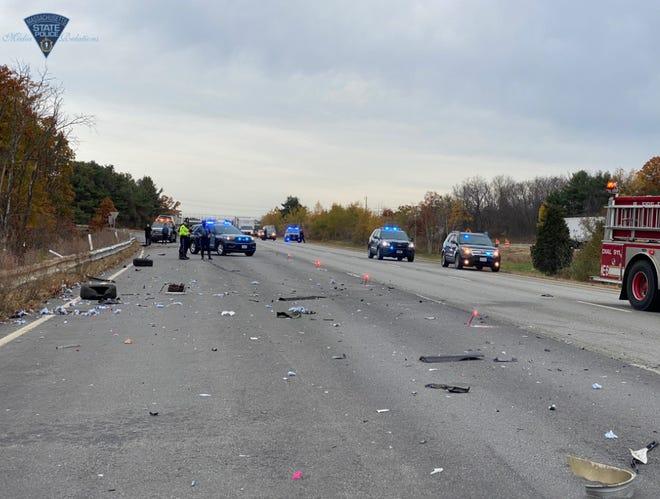 The crash scene in Marlboro Friday morning.