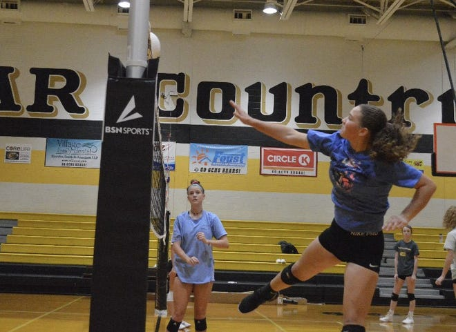 The Gray's Creek volleyball team had its second day of official practice on Thursday. The Bears are scheduled to open the season on Nov. 16 at South View.
