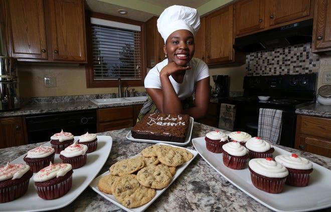 Thomas Worthington High School sophomore Lindsey Oguntuase, 15, has started an online-based bakery business, Lindz's Desserts.