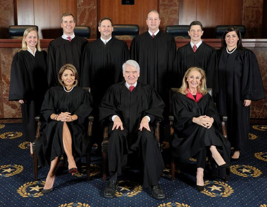 Composed of the chief justice and eight justices, the Supreme Court of Texas is the court of last resort for civil matters in the state.