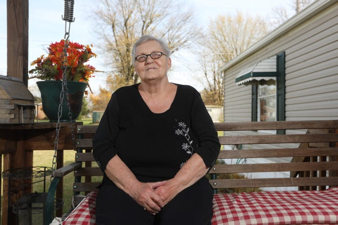 Betty Shutt at her home in West Lafayette. She is a corps sergeant-major at The Salvation Army in Coshocton. She became familiar with the organization many years ago and eventually worked for the local chapter. She retire in 2011 but has since returned to help the corps officers.