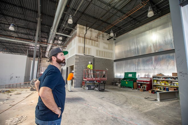 Owner Zach Dobeck at Kinship Brewing Company which is under construction in Waukee Friday, Nov. 6, 2020.