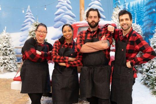 """Holiday Wars"" team Hashtag Elfies, from left: Jodi Johnston, Charlise Johnson, Matt Moratto and Jonny Manganello."