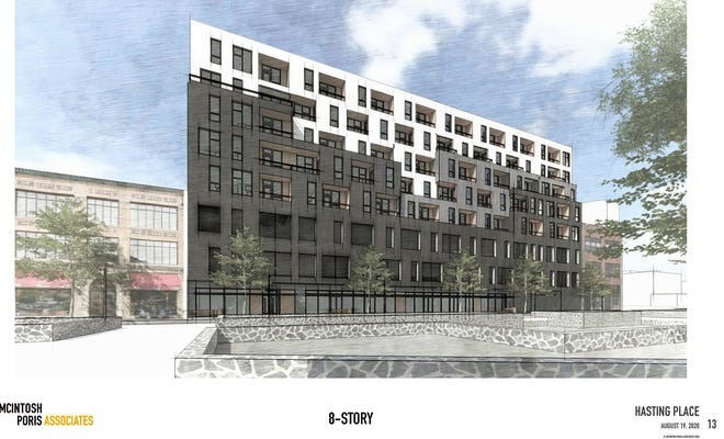 Hastings Place would have 90 apartments on top of ground-floor commercial space.