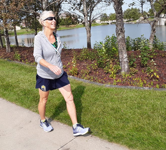 Today, long-time fitness educator and practitioner Sandy Rupnow is 76, still preaching the gospel of exercise, and can be seen happily running or speed-walking near Liberty Centre pond in her home town of North Liberty.