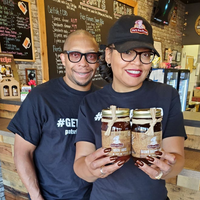 Ty and Alisha Hayes stand behind the two Pat's Rib Place sauces that are included on Oprah's Favorite Things holiday gift list in 2020. Through her Waukesha restaurant, Alisha, Oprah Winfrey's niece, continues to carry on a tradition she attributes to her mother, Pat, who died in 2003.