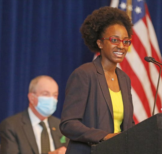 Dianna Houenou was named Chair of the Cannabis Regulatory Commission by New Jersey Governor Phil Murphy at an announcement made during a press conference at the War Memorial in Trenton, NJ on November 6, 2020.
