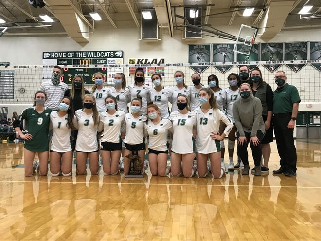 The Novi volleyball team wins its sixth district final in the past seven seasons.