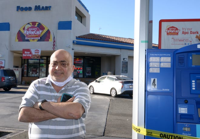 Mike Diab, who expanded his Palm Springs Mobil gas station convenience store with takeout food, has seen an increase in customers and traffic since the pandemic.