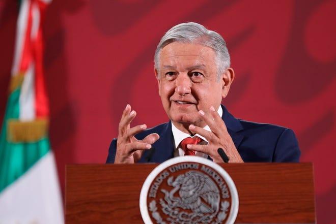 El presidente de México, Andrés Manuel López Obrador, participa en una rueda de prensa en el Palacio Nacional de Ciudad de México.