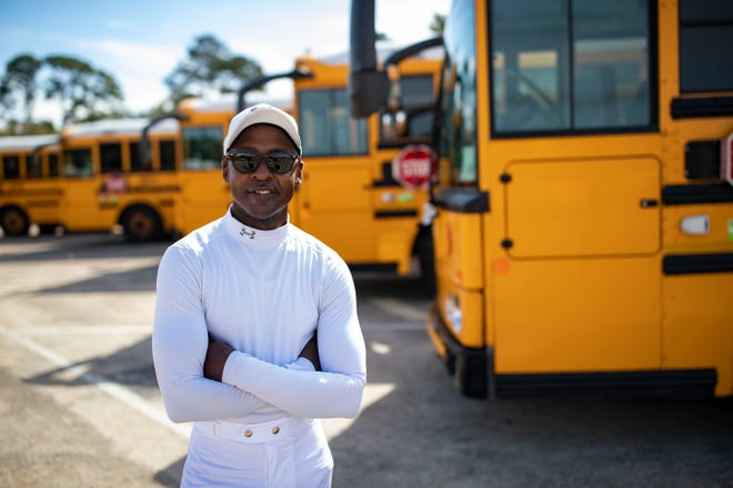 Shanley Jackson, who is a Leon County Schools bus driver and a horse jockey, poses for a portrait Friday, Nov. 6, 2020.
