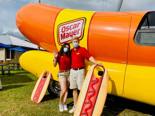 Ashley Ferrera and Tommy Derkin made a stop at the Carnival Food Fair on Friday.