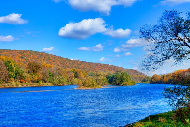 With weekend temperatures forecasted to be in the 60s and 70s, the Delaware River is an ideal place to see the fall foliage before all the leaves are gone.
