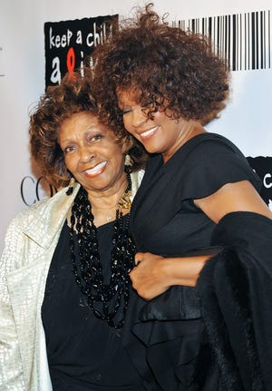Cissy Houston, left, and daughter Whitney Houston in 2010.