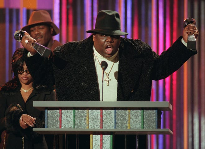 Notorious B.I.G. at the Billboard Music Awards in 1995.