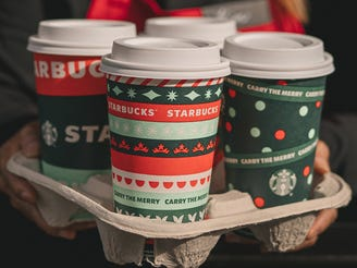 Starbucks' holiday drinks and red cups are back to get you in the holiday spirit.