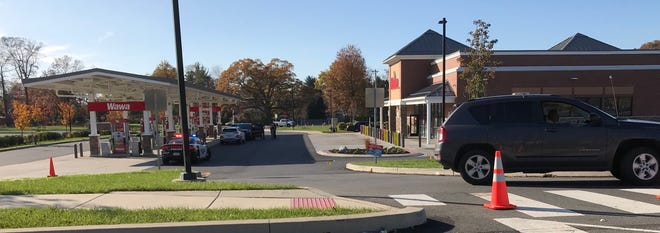 Police are investigating a shooting at the Wawa on West Trenton Avenue and Pine Grove Road in Falls on Saturday