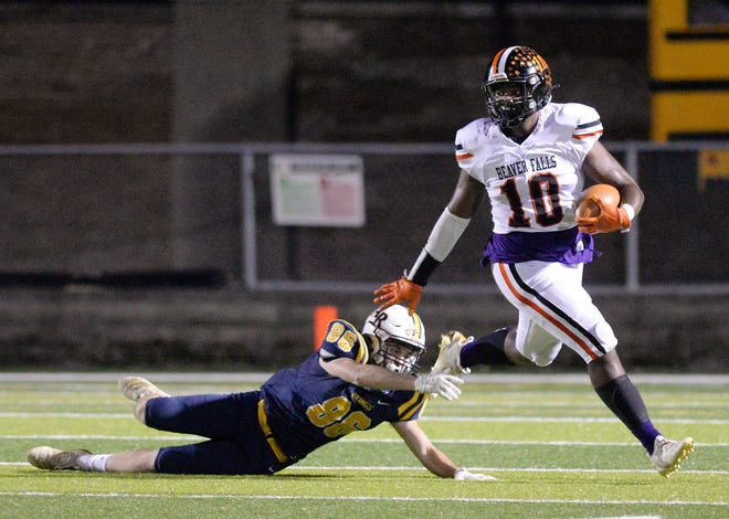 Beaver Falls running back Josh Hough (10) was named Offensive Player of the Year in the Class 2A Midwestern Conference.