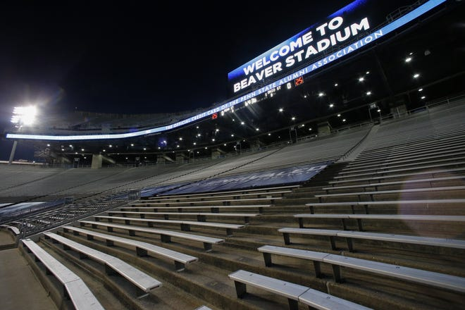 Beaver Stadium was mostly empty for last week's Ohio State-Penn State game, but not silent for fans watching at home.