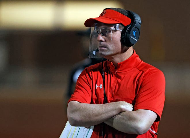 Coronado head football coach Seth Parr was named the Lone Star Varsity Coach of the Year. Parr, in his seventh-year at the helm, led the Mustangs to their fourth district championship in five years on the strength of an undefeated regular season record.