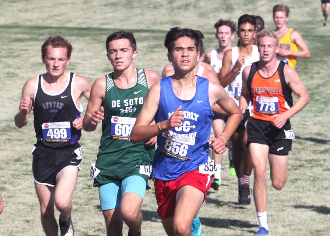 Moberly Spartan senior cross country runner Antonio Rivera (#856)  made his first appearance at the state championships Friday morning to finish 4th among 167 qualifiers in the Class 4 meet held in Columbia. Rivera's time was 17:09.4.