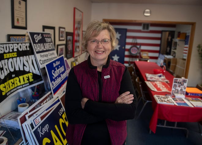 Amanda Suffecool, GOP chairwoman, at the Republican headquarters in Ravenna.