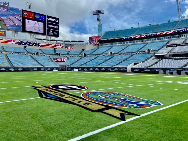 TIAA Bank Field, Jacksonville, site of today's Florida-Georgia game.