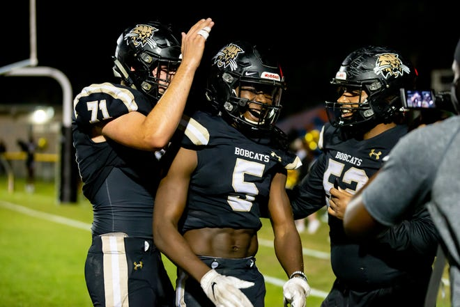 Buchholz Bobcats wide receiver Quan Lee (5) is one of the top area recruits for the Class of 2022.