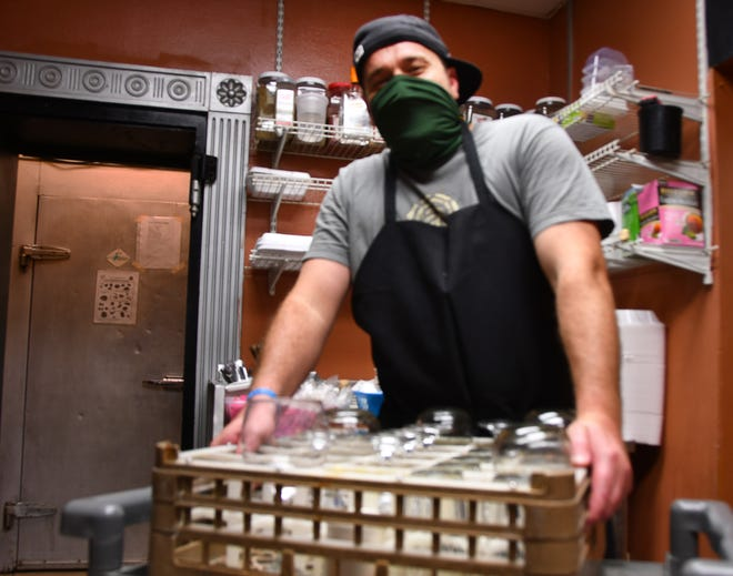 Brett Cox is a dishwasher at Tapa N Tacos in Cocoa Village. He was glad Amendment 2 passed, raising the minimum wage to $10.00 per hour effective September 30. He thinks it will be good for workers at big corporations but very hard on the small mom-and- pop shops and businesses.