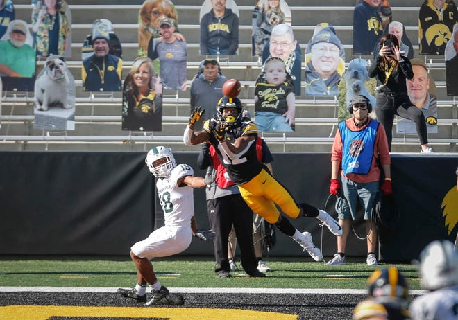 Brandon Smith made a number of highlight-reel catches for the Hawkeyes in his four-year career.
