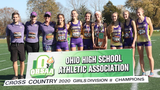 The 2020 Lexington Lady Lex cross country team won its fourth consecutive Division II state championship on Saturday at Fortress Obetz in Columbus.