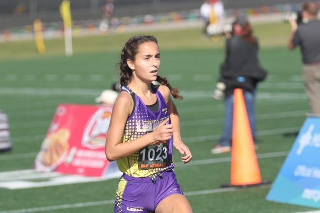 Lexington's Natalie Dininger will be a senior member of the Lexington girls cross country team in 2021.