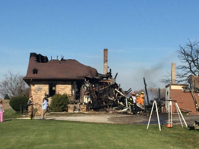 The home at 2500 Bowman Street Road was destroyed by fire Saturday morning.