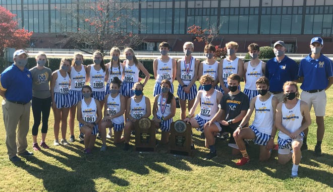 The Mountain Home Lady Bombers won the Class 5A State cross country championship on Friday, while the Bombers finished as runners-up at Oaklawn in Hot Springs.