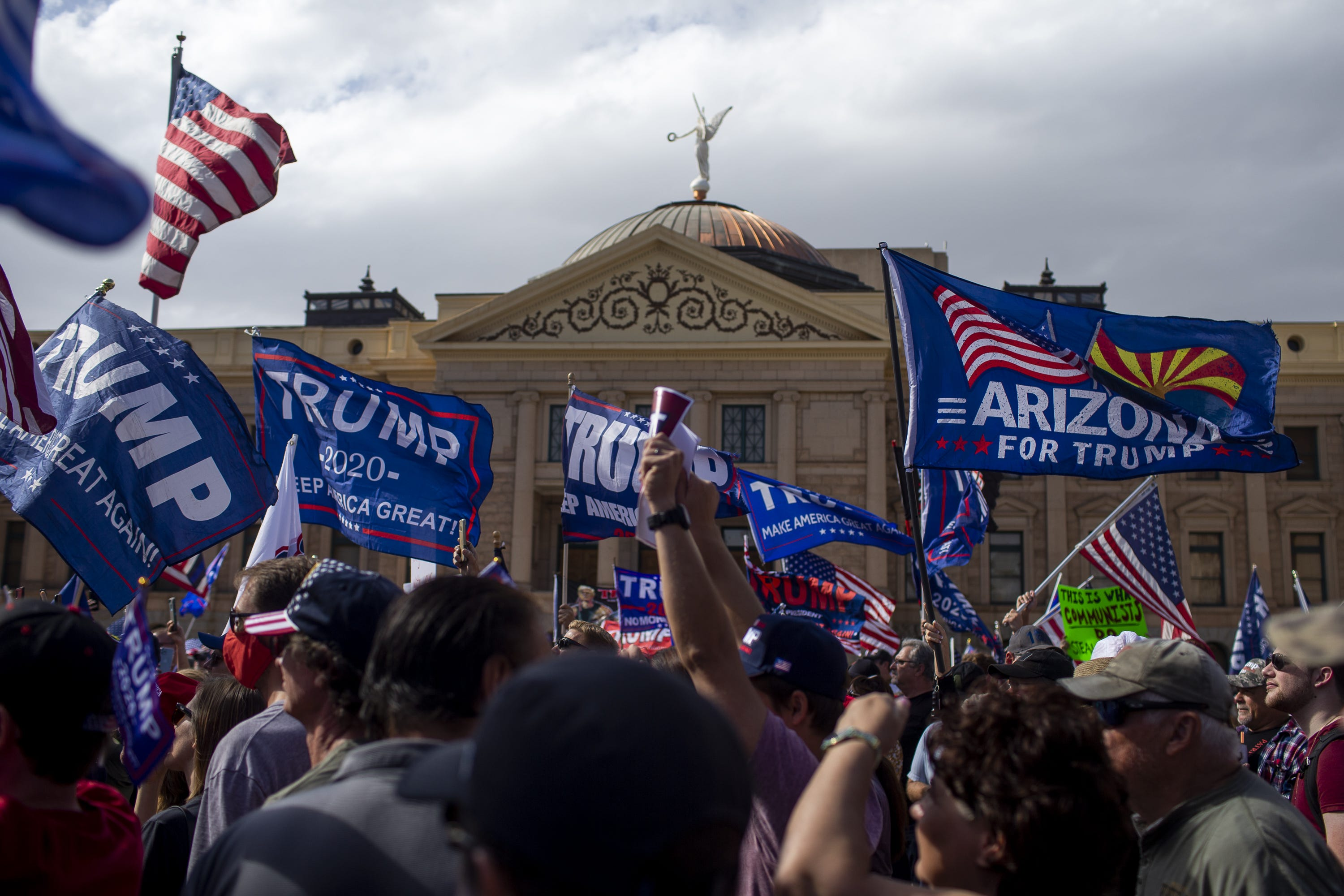 2 arrested on suspicion of trespassing at Arizona Capitol election protest
