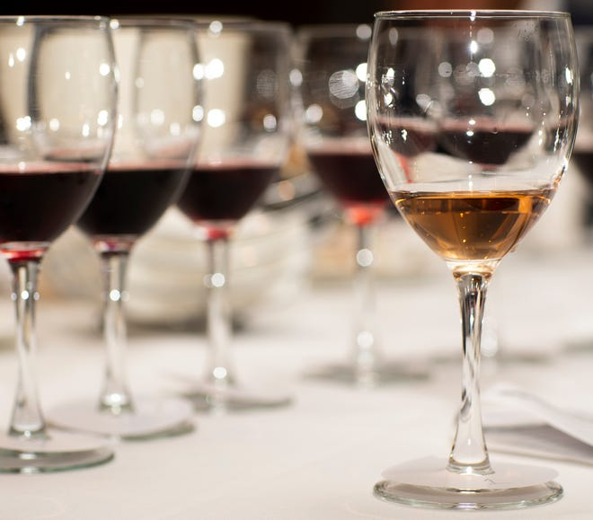 Wine is judged for the 2020 azcentral Arizona Wine Competition at Mountain Shadows Resort in Paradise Valley, Arizona on Nov. 2, 2020.