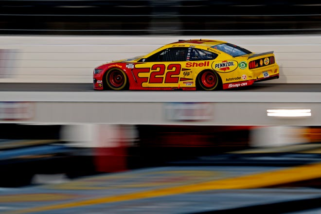 NASCAR Cup Series driver Joey Logano (22) during the Xfinity 500 at Martinsville Speedway.