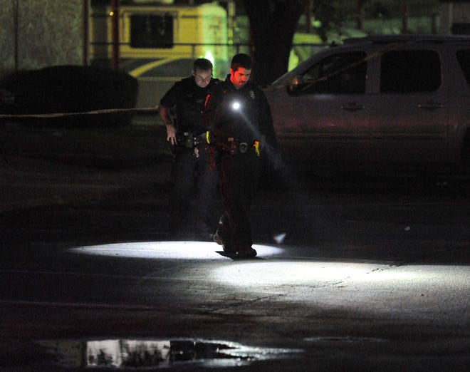 Wichita Falls police taped-off a crime scene Nov. 6 after responding to the report of a shooting at a apartment complex on Professional Drive. Edward Ray Collins, 25, died later that night.