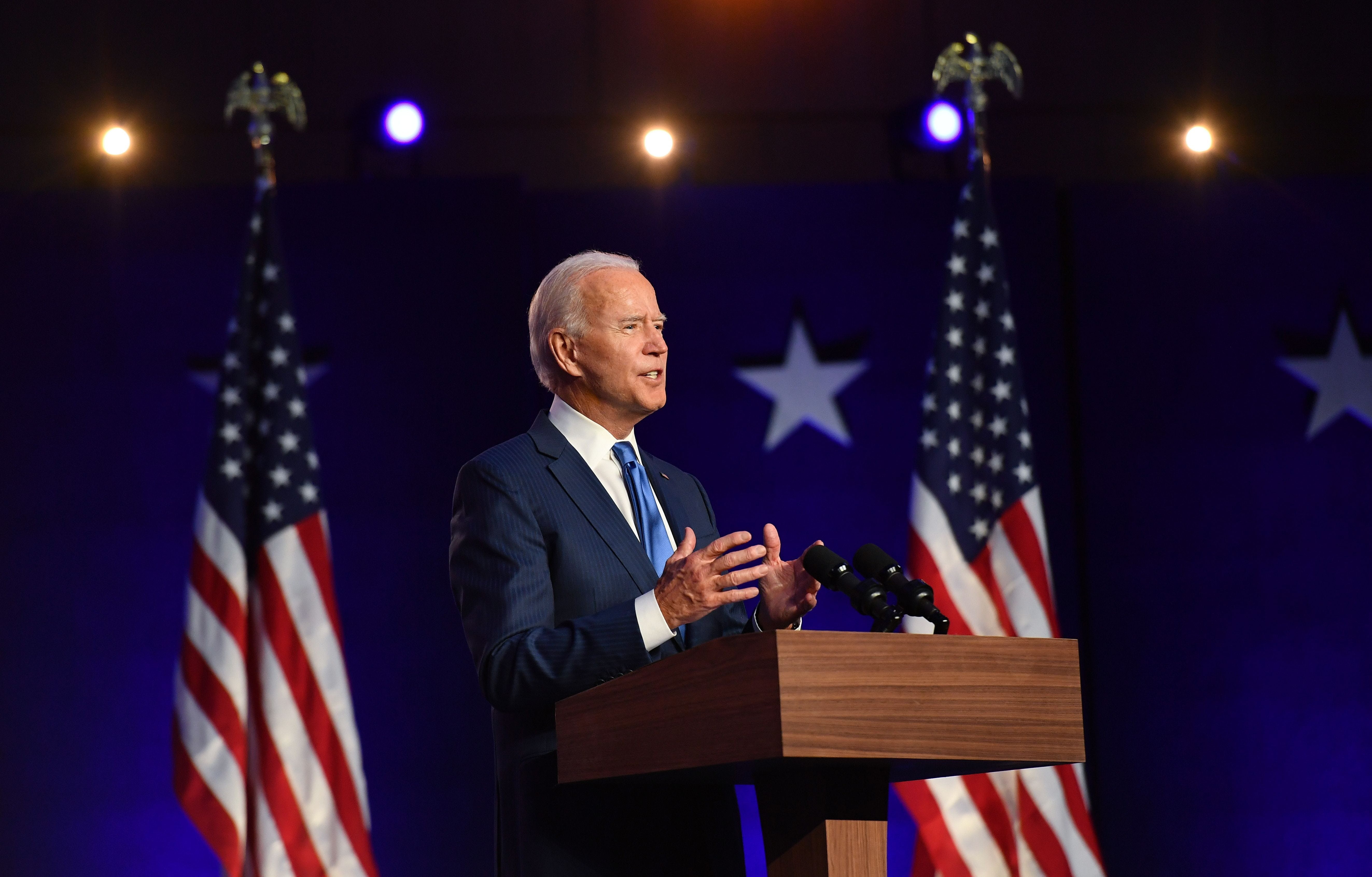 Election results update: Biden says he has a  clear majority  in speech asking for nation to be patient