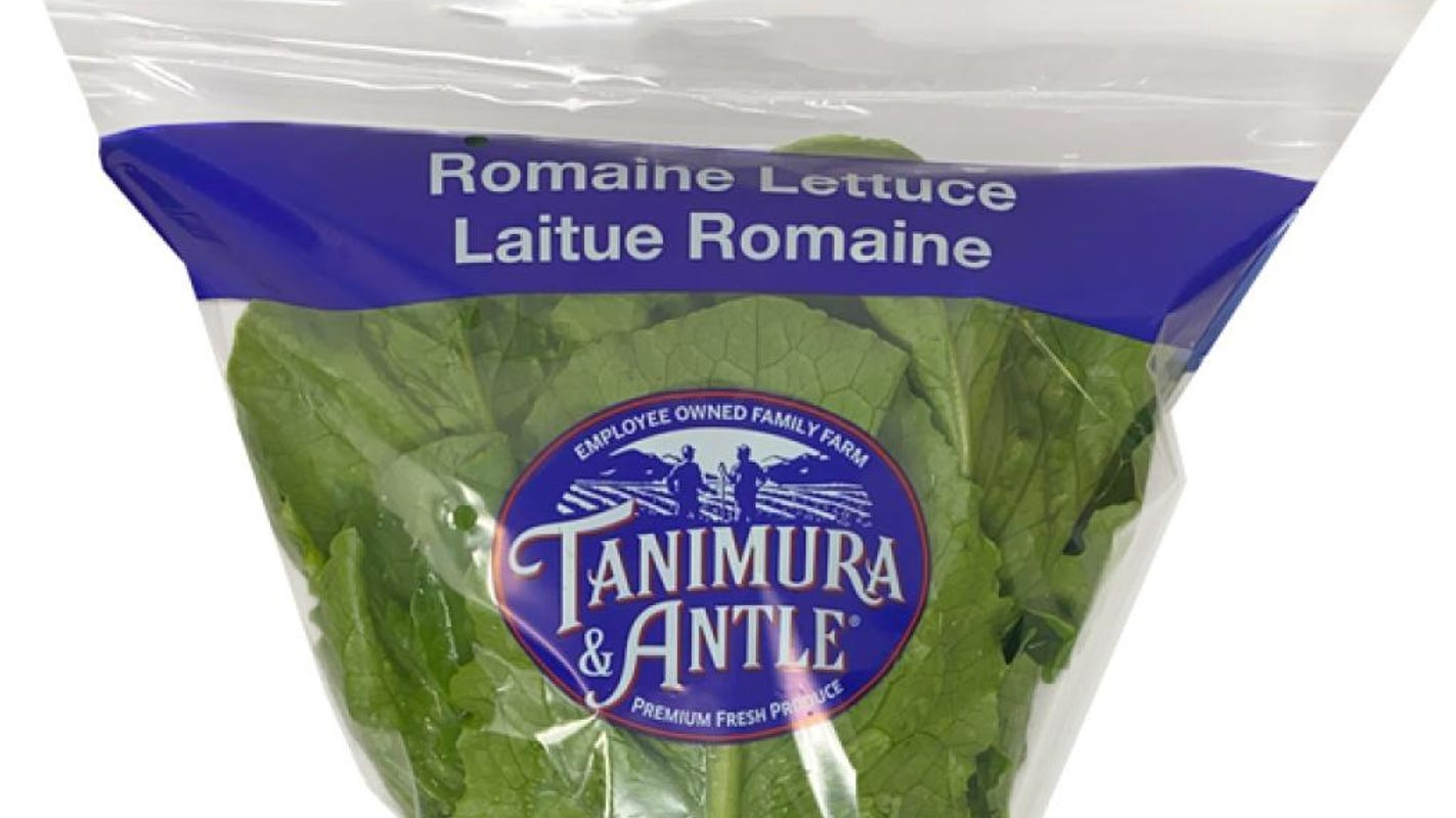 Romaine lettuce recall 2020: Tanimura & Antle recalls single heads of romaine for possible E. coli contamination – USA TODAY