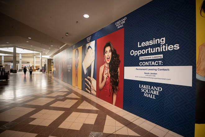 Vacant store fronts are easily seen within the Lakeland Square Mall. With customer foot traffic severely decreased during the COVID-19 pandemic, traditional inside malls are struggling as the holiday retail season approaches.