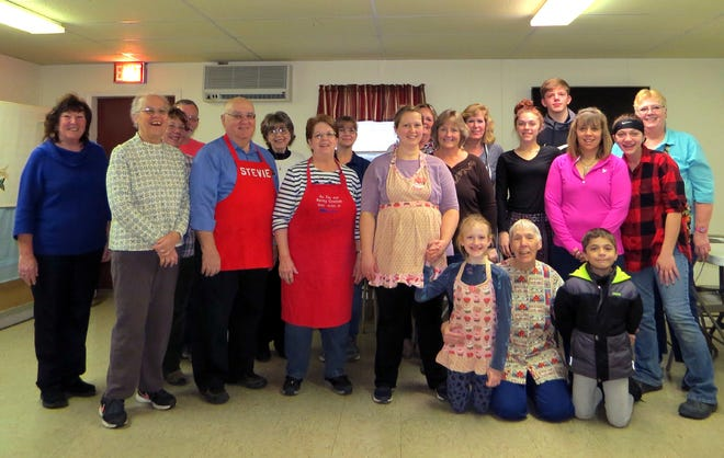 Church Women United of Oxford and Thanksgiving dinner volunteers pose during preparations for last year's in-person event. This year, they will be at St. Paul's Episcopal Church Parish House in Oxford making takeout dinners.