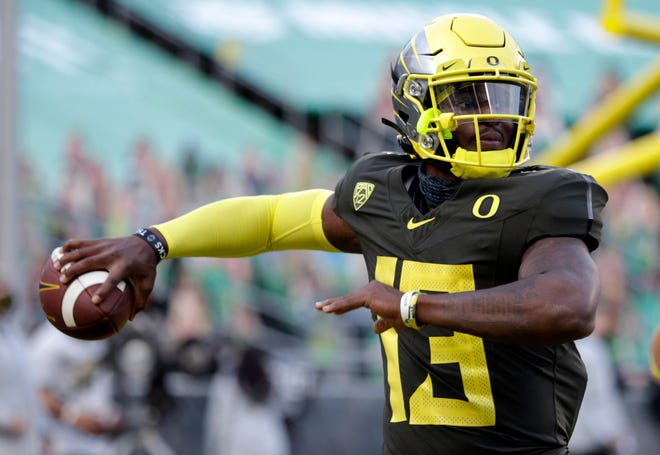 Anthony Brown has taken all of the first-team reps at quarterback for Oregon during spring practices.